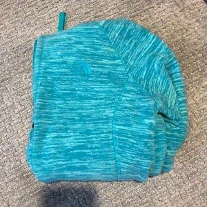 Teal north face hoodie
